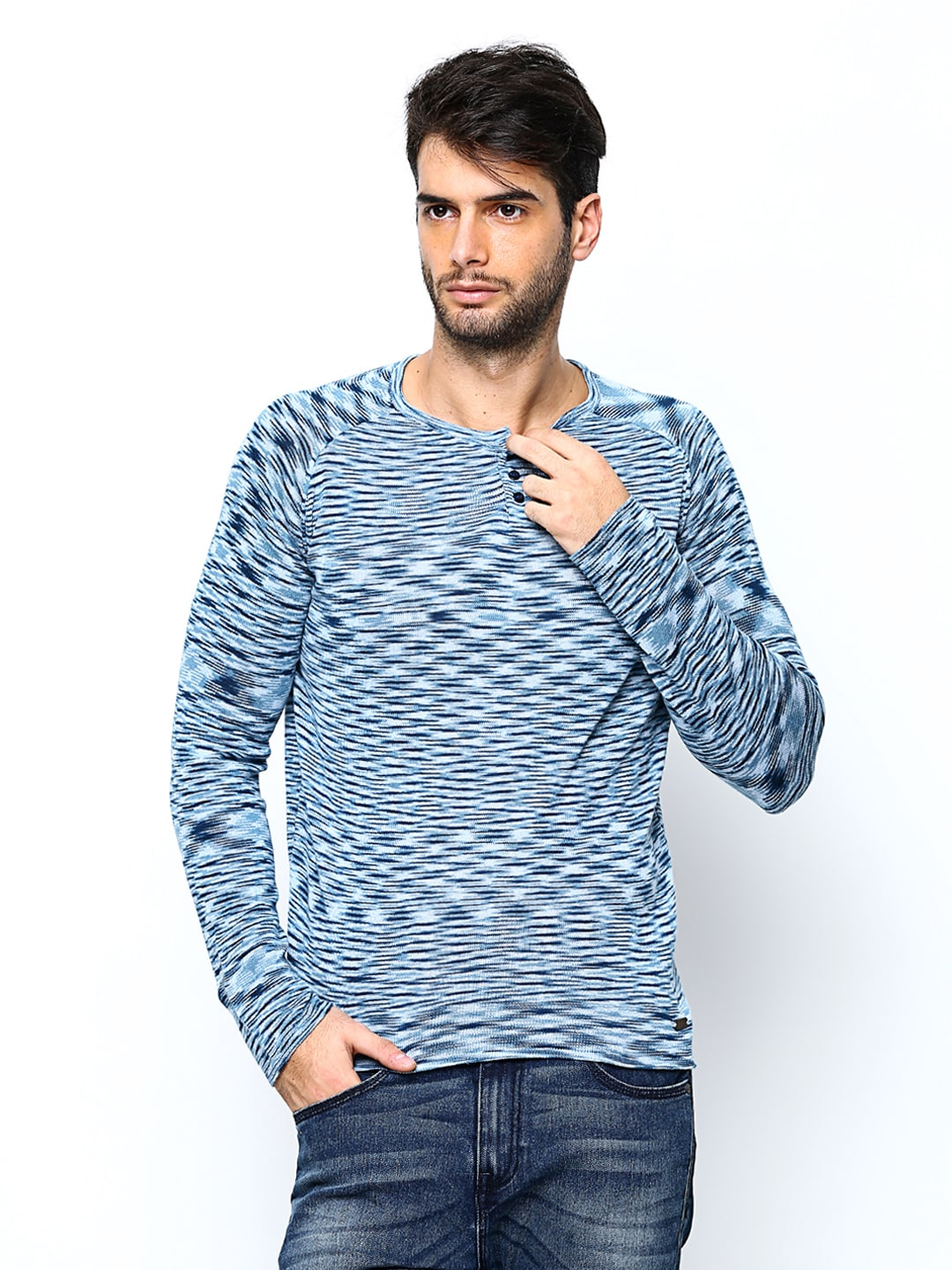 United Colors of Benetton Men Blue Sweater