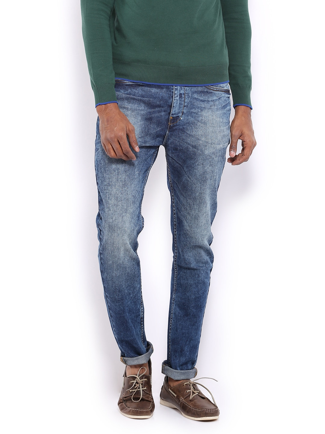 Buy United Colors Of Benetton Men Blue Carrot Fit Jeans - 363 - Apparel for Men - 386958