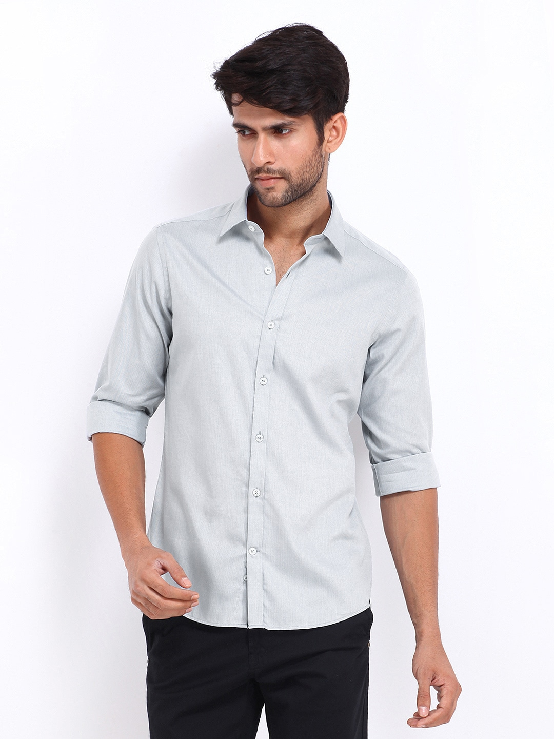United Colors of Benetton Men Grey Casual Shirt