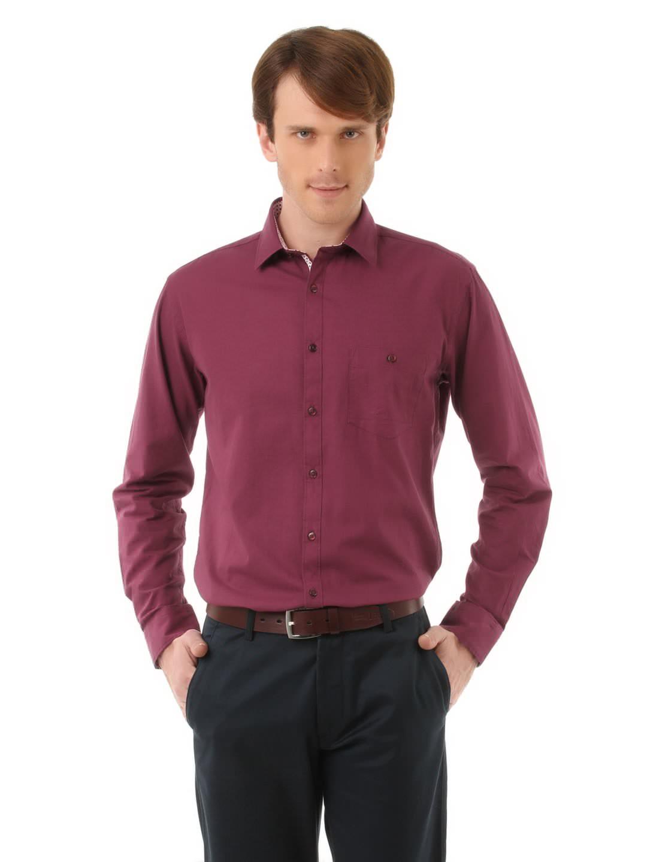 Buy V Dot Men Maroon Shirt - Shirts for Men | Myntra