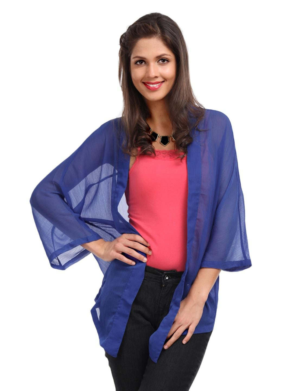 Vero Moda Women Blue Zenia Shrug