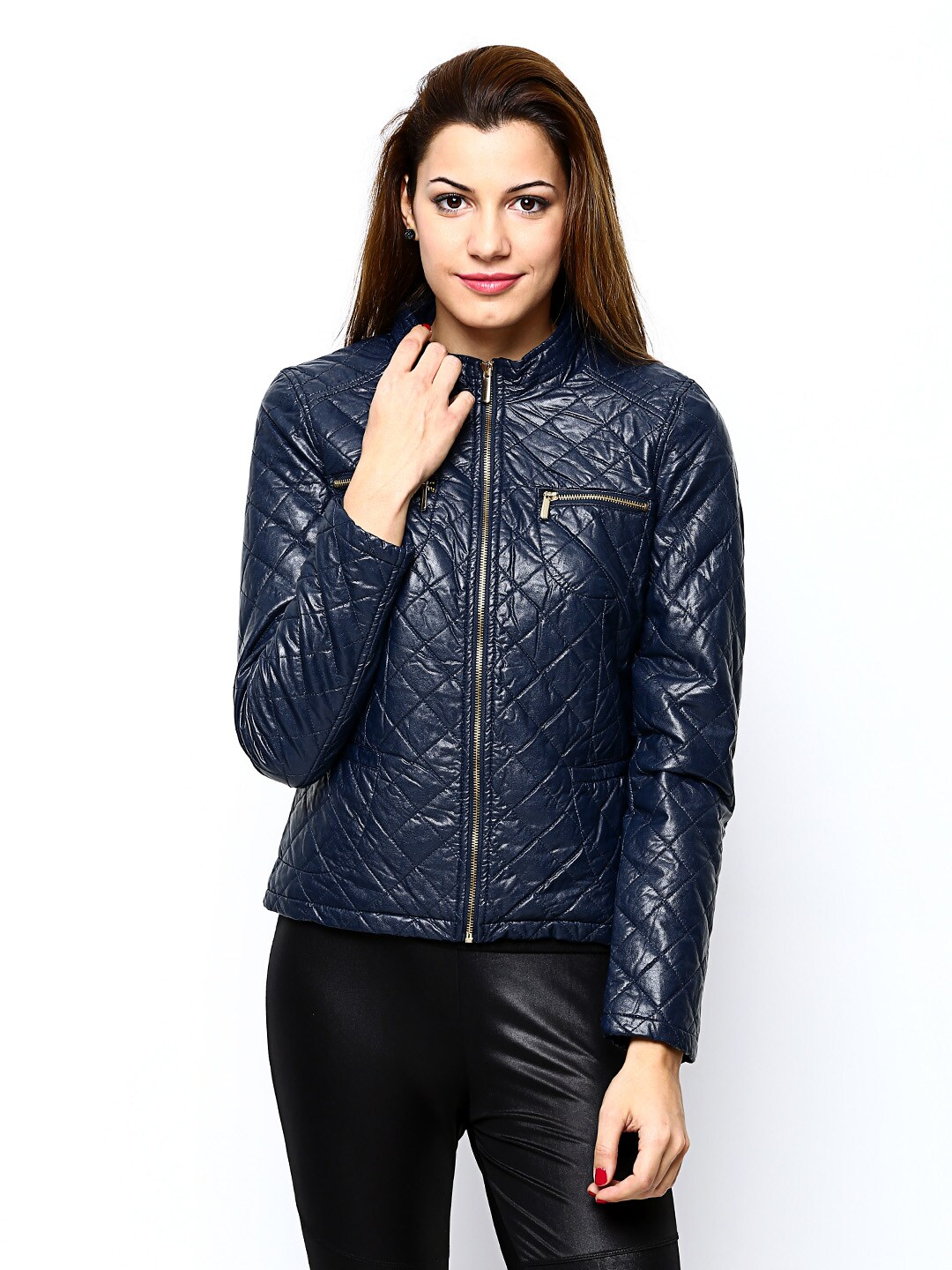 Buy Vero Moda Women Navy Quilted Jacket Blue 9544915 For Online In