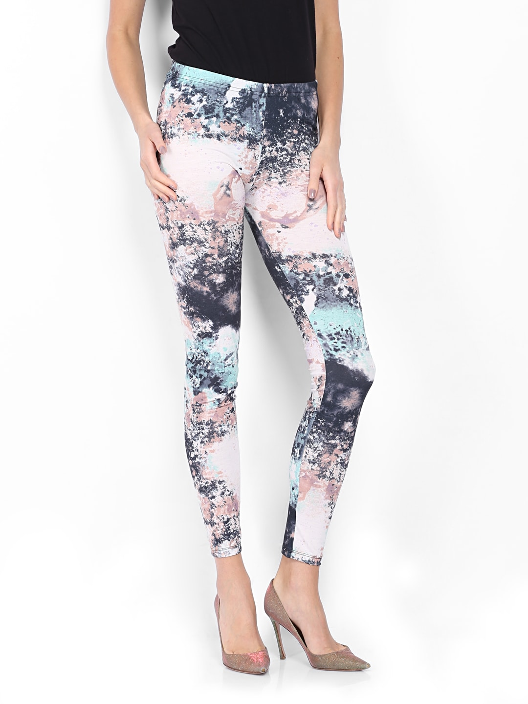 Vero Moda Women Multicoloured Printed Leggings