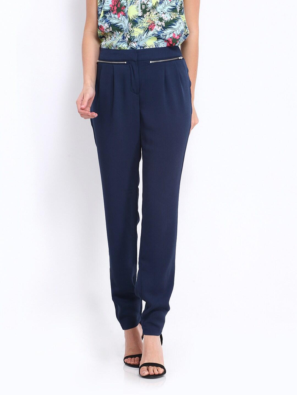 Vero Moda Women Blue Trousers