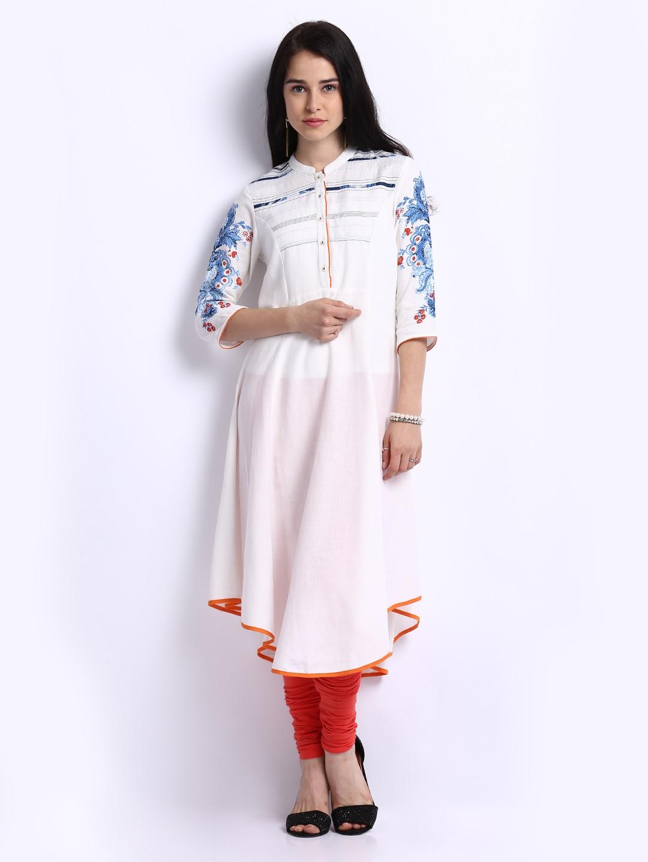 White Kurta Style White Woman White Kurta For