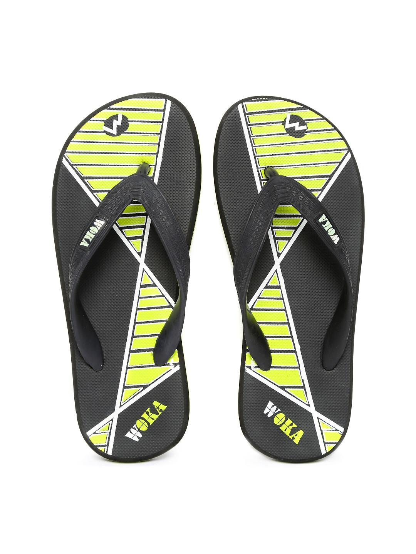 WOKA Men Black Flip-Flops