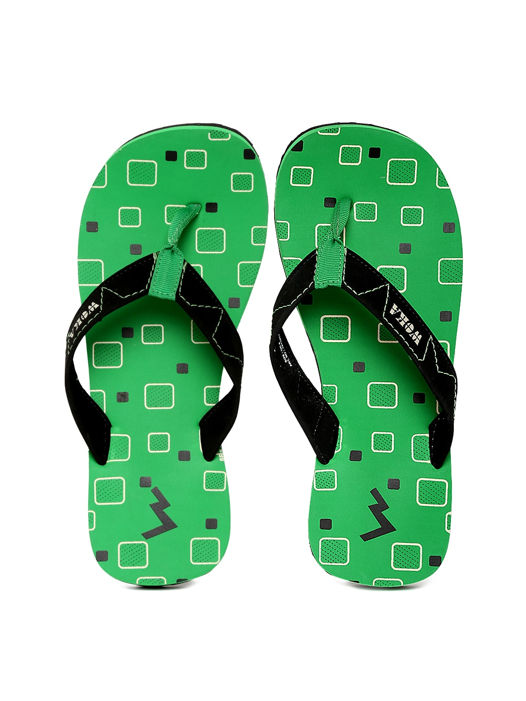 WOKA Men Black Flip-Flops