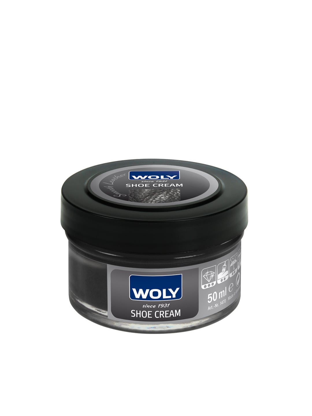 Woly WOLY Black Smooth Leather Shoe Cream (Yellow)