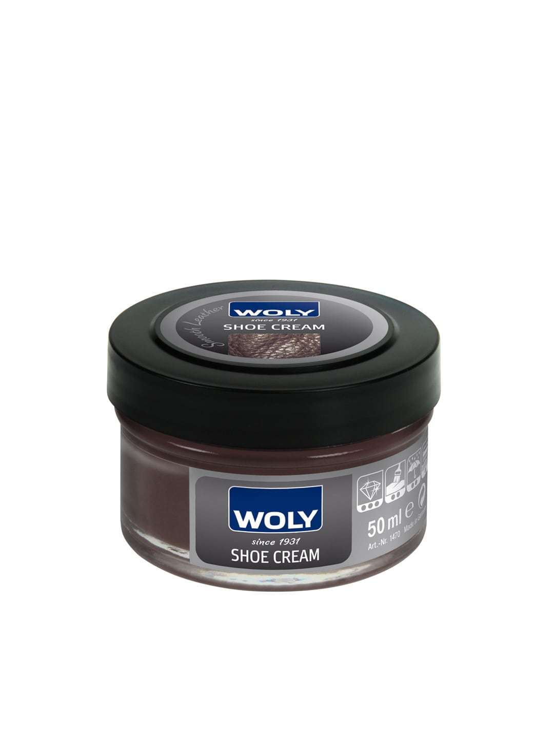 Woly WOLY Dark Brown Smooth Leather Shoe Cream (Multicolor)