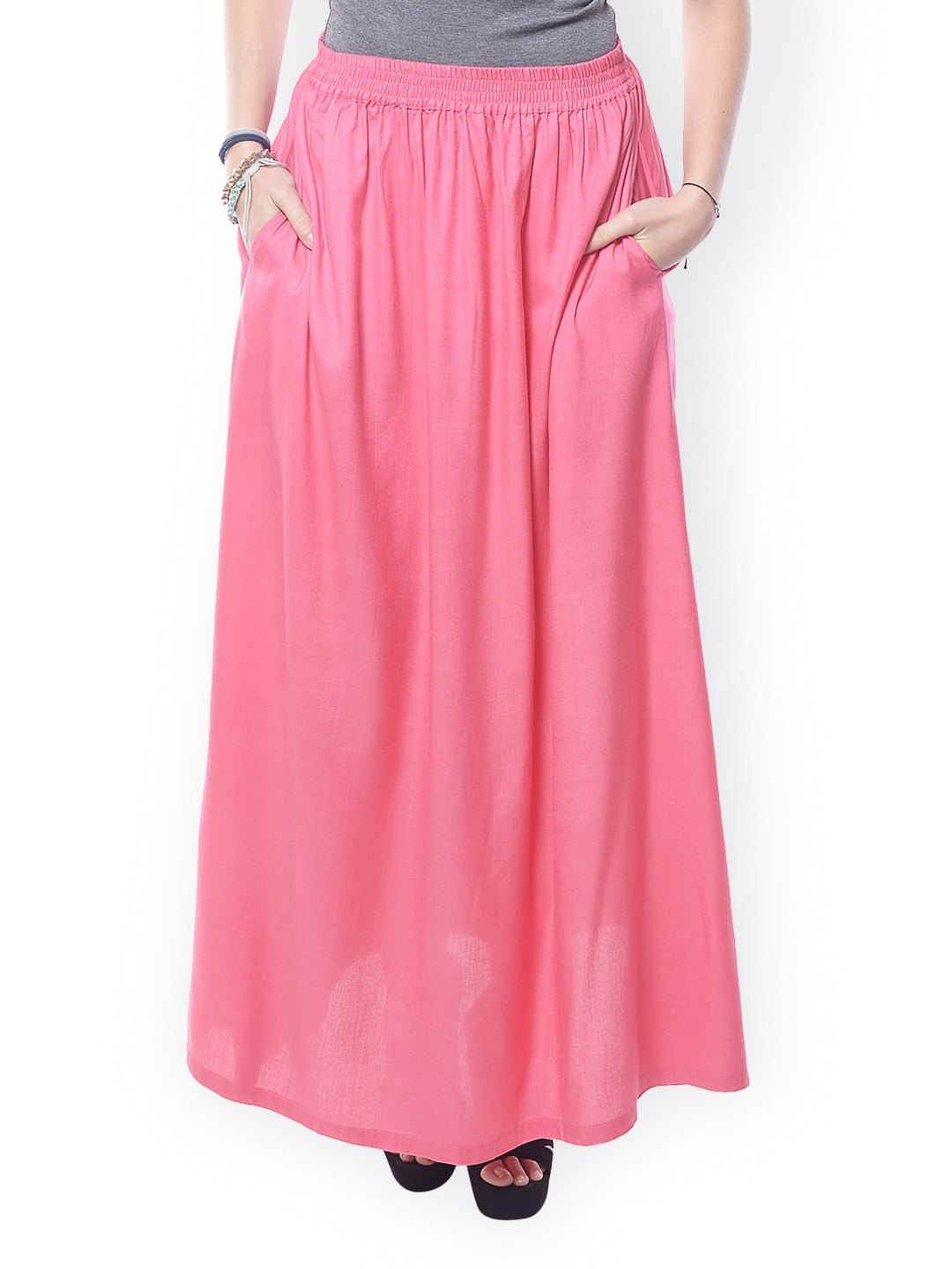 buy westhreads pink maxi skirt 304 apparel for
