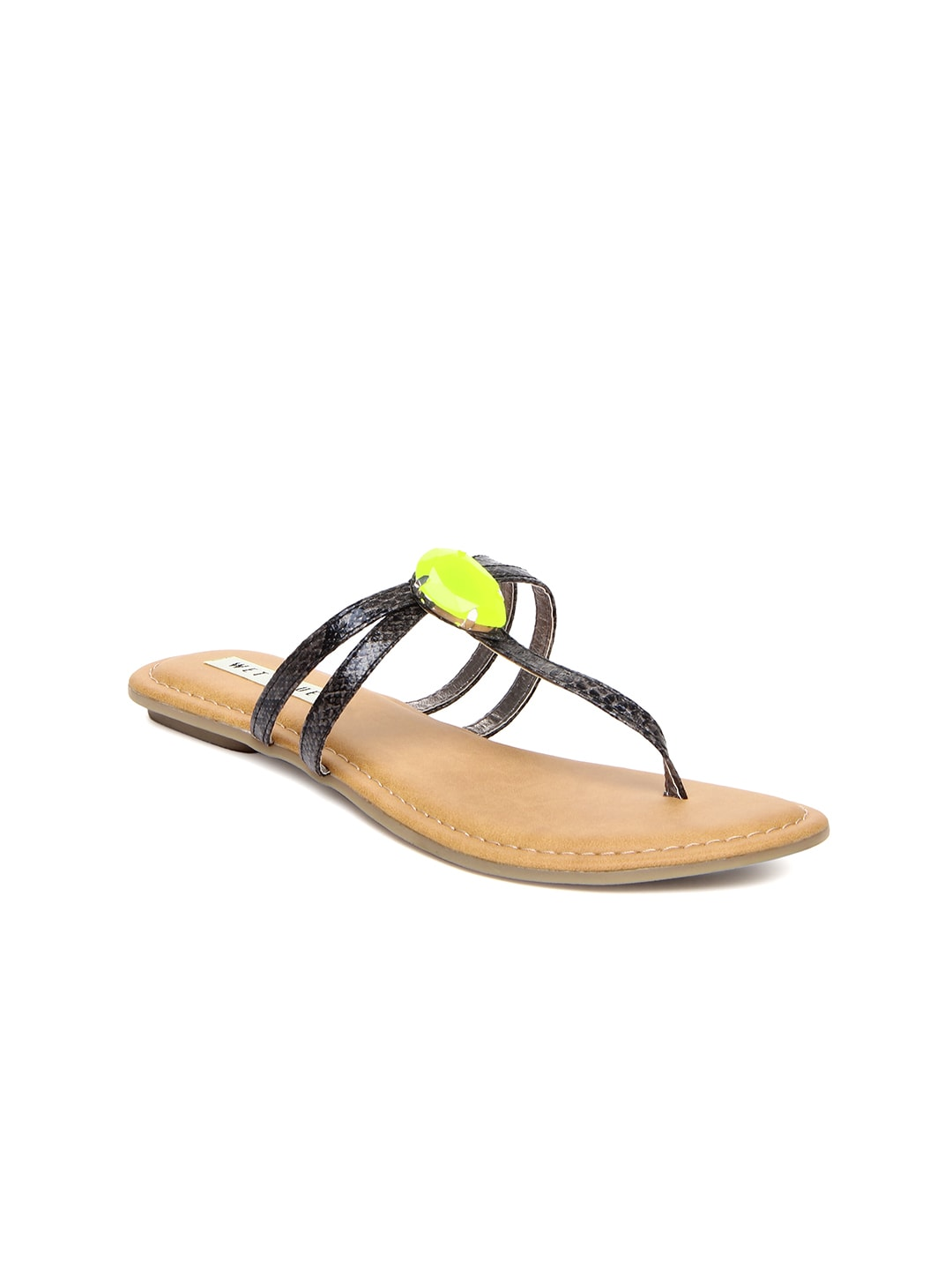 Wet Blue Women Black Sandals