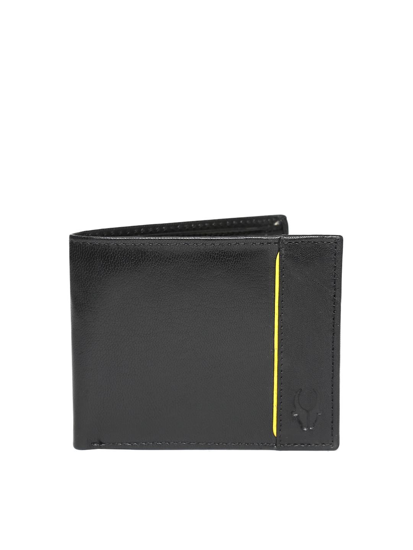 WildHorn Men Black Leather Wallet