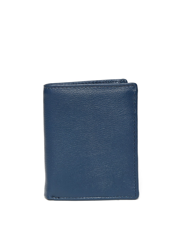 WildHorn Men Navy Leather Wallet