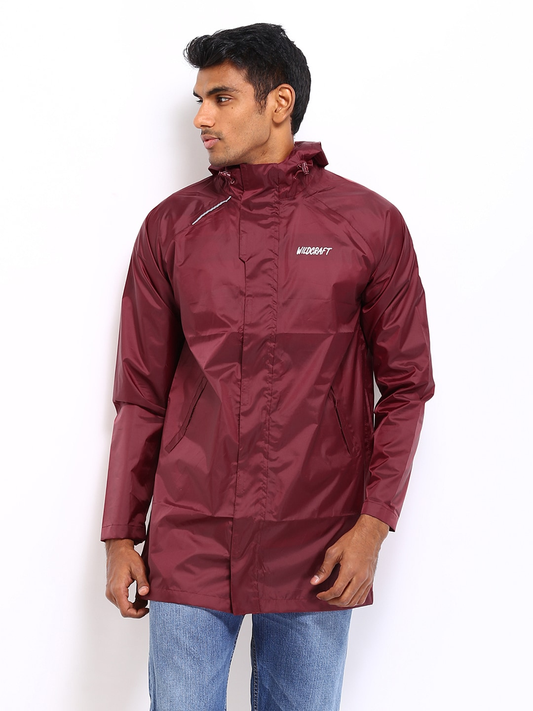 Wildcraft Men Maroon Rain Jacket