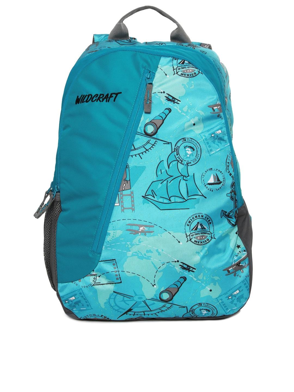 Buy Wildcraft Unisex Blue Printed Backpack