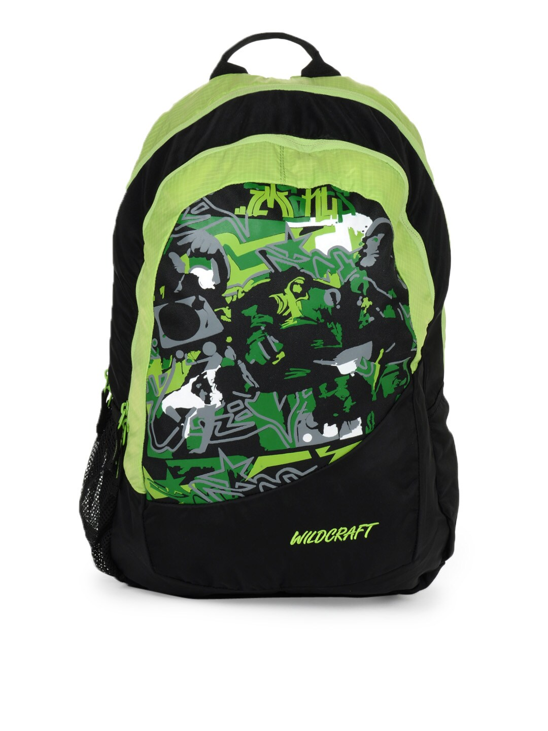 Buy Wildcraft Unisex Green And Black Graphic Print