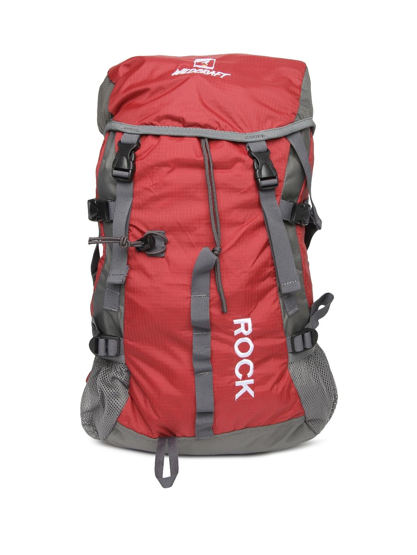 Wildcraft Unisex Red & Grey Rucksack