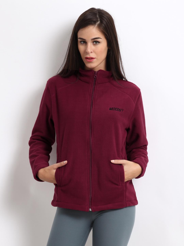 buy wildcraft unisex red fleece jacket 292 apparel for