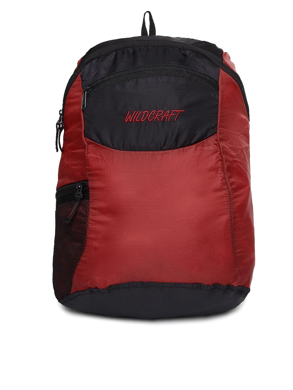 Wildcraft Unisex Red & Black Foldable Backpack