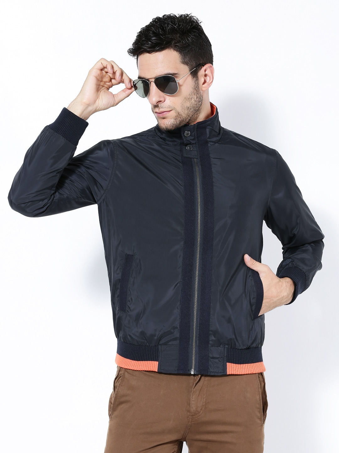 Wills Lifestyle Men Navy Jacket