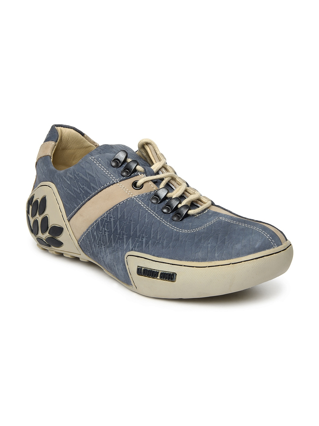 buy woodland blue leather casual shoes 632