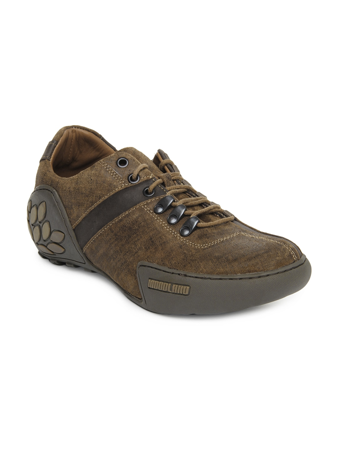 buy woodland brown leather casual shoes 632