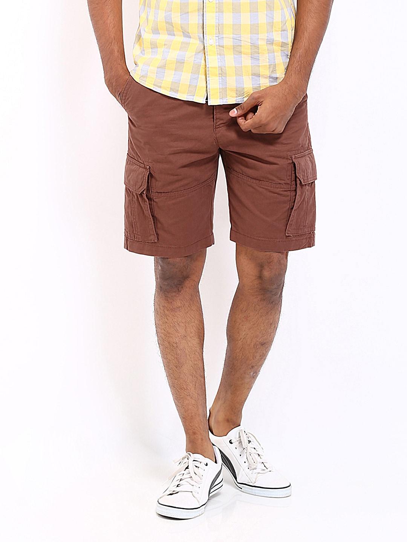 Wrangler Wrangler Men Brown Cargo Shorts