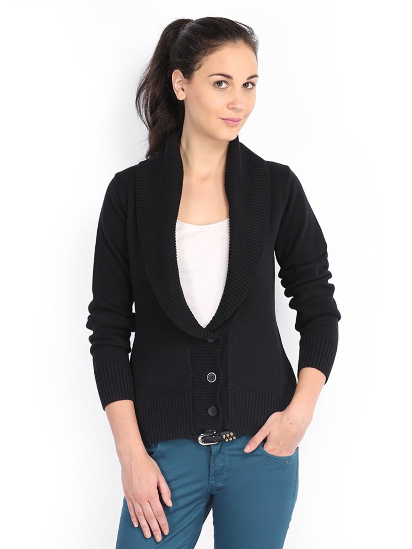 2807e713dad Buy Wrangler Women Black Cardigan 7955805 for women online in ...