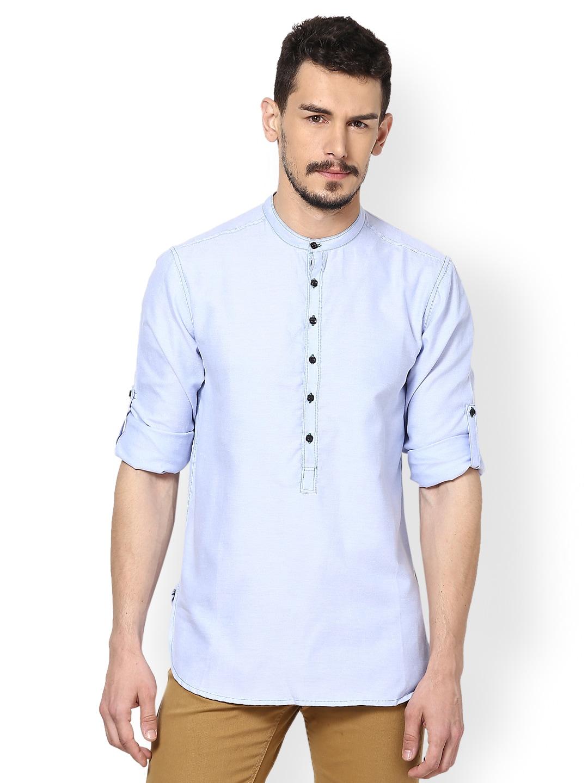 Buy Even Men Blue Kurta 364 Apparel For 326980