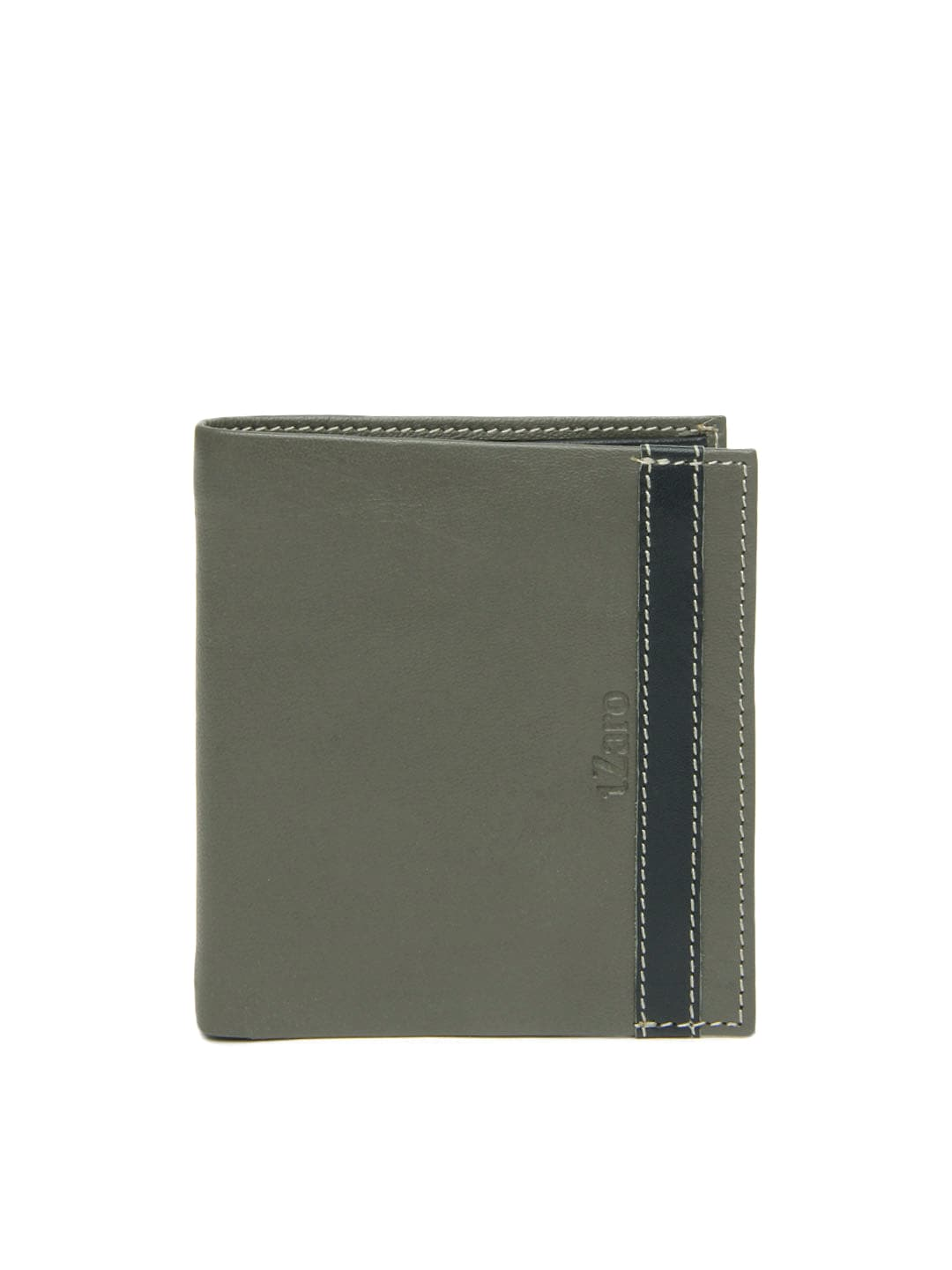 tZaro Men Grey Leather Wallet