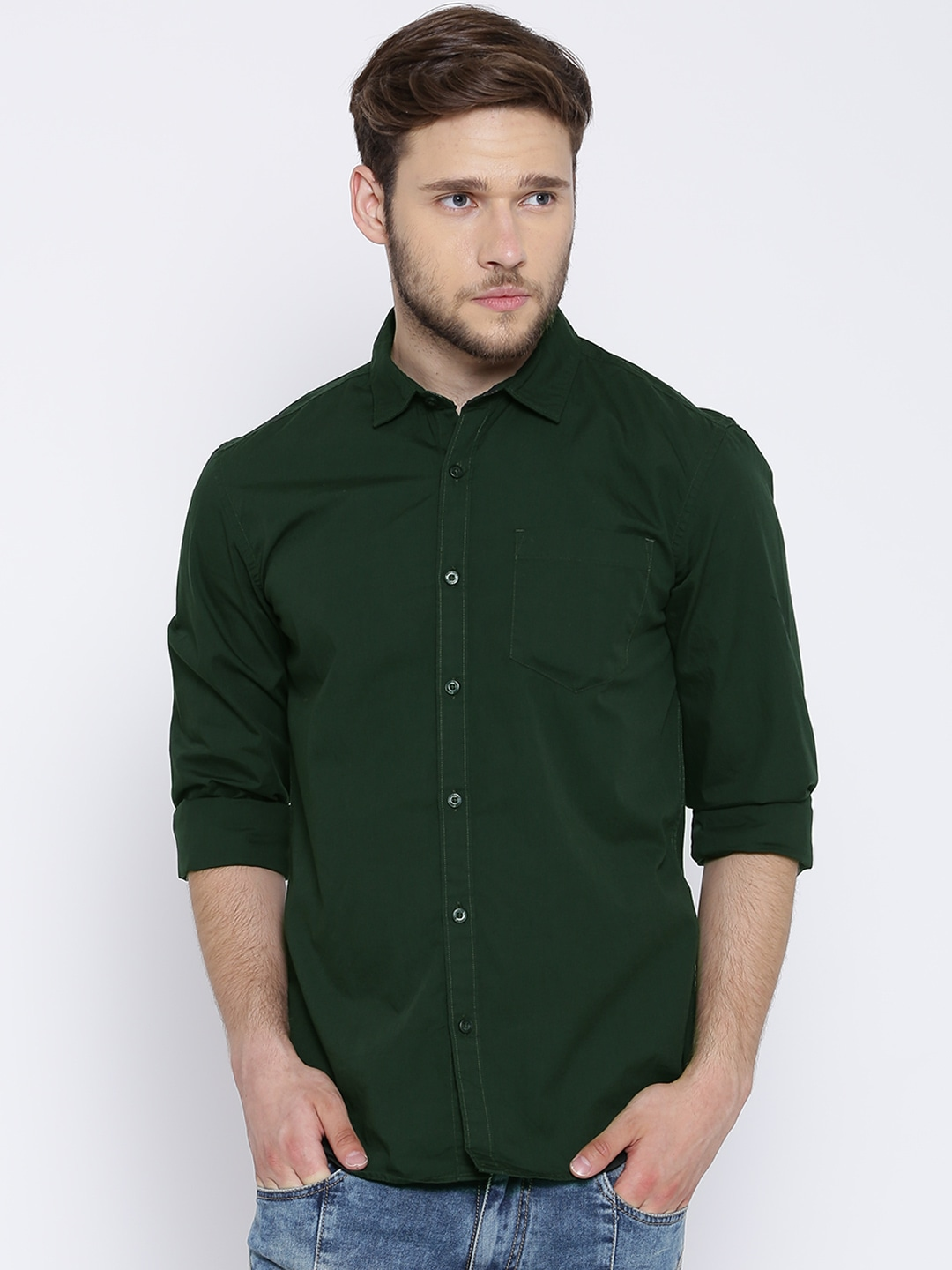 Dark green mens shirt artee shirt Emerald green mens dress shirt