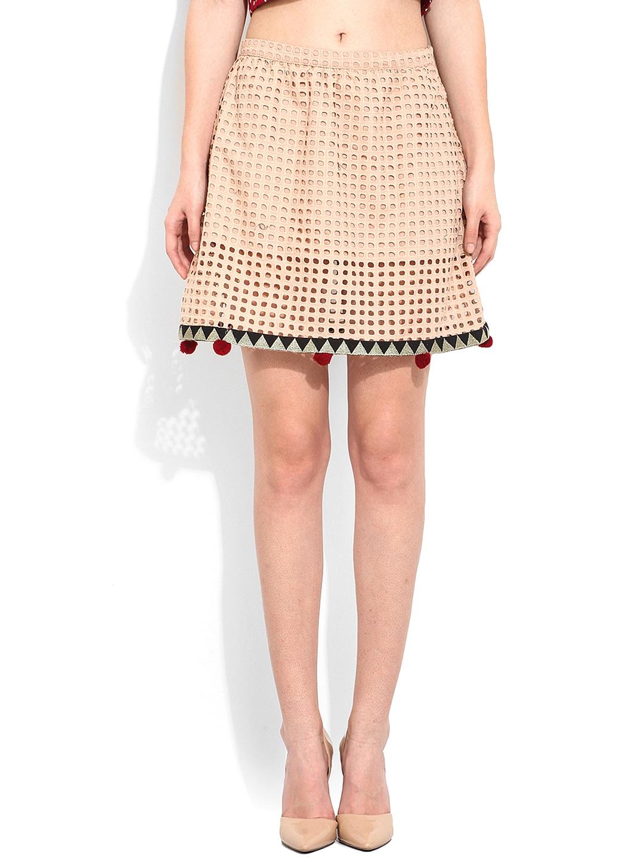 Buy Rena Love Beige A Line Skirt - Skirts for Women | Myntra