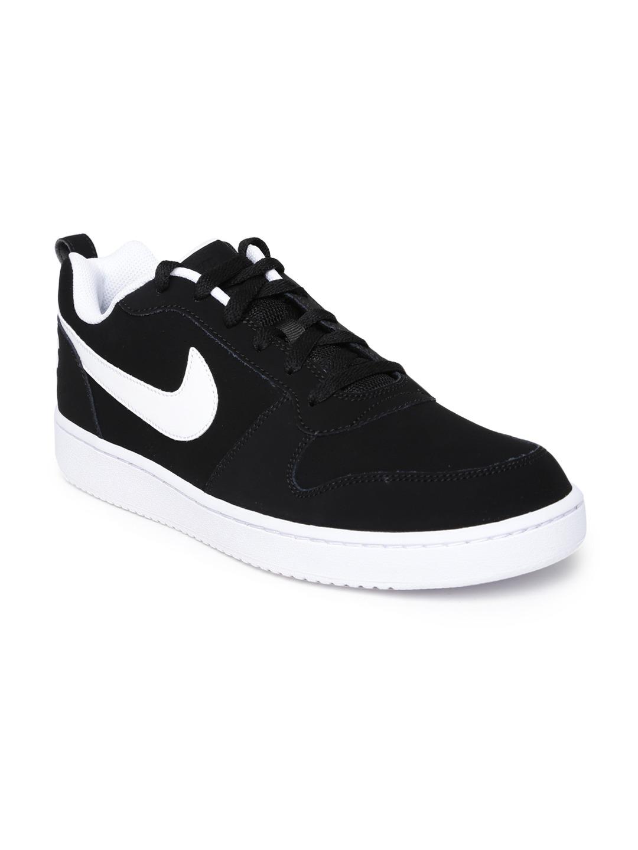 black casual nike shoes