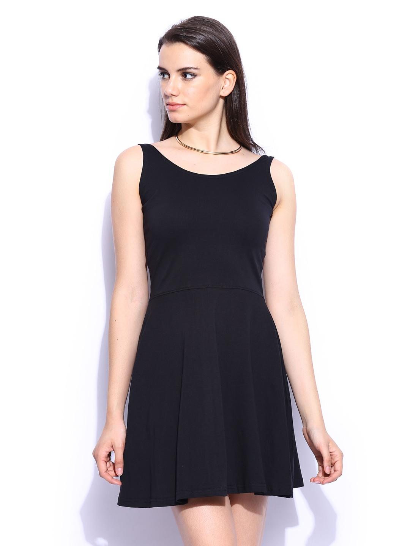 formal wear for women buy women formal wear online myntra miss chase black whole wide whirl skater formal dress