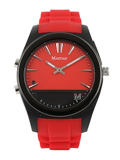 Martian Unisex Red Analogue & Digital Notifier Smart Watch
