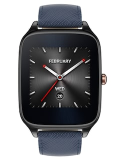 ASUS Unisex Navy Leather Smart Watch