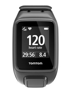 TomTom Spark Unisex Black Cardio Plus Music GPS Fitness Smart Watch Small