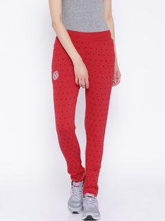 SDL by Sweet Dreams Red Printed Track Pants