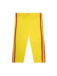 Jazzup Girls Yellow Track Pants
