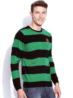 Harvard Green & Navy Striped Sweater
