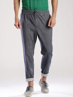 Tommy Hilfiger Blue Woollen Track Pants