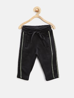YK Boys Black Knit Joggers