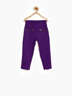 Garlynn Girls Purple Skinny Jeggings