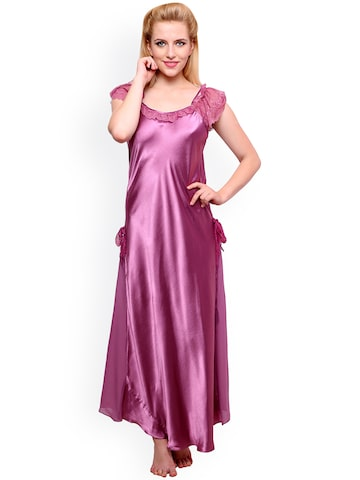 Private Lives Purple Nightdress NI1448 at myntra