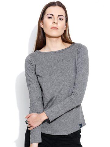 CULT FICTION Grey Melange T-shirt at myntra