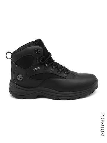 Timberland Men Black Waterproof Leather Boots at myntra