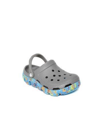 Crocs Kids Grey Clogs at myntra