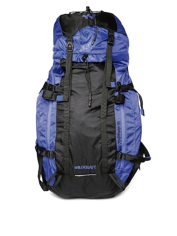 Wildcraft Unisex Blue & Black Trailblazer Plus Rucksack at myntra