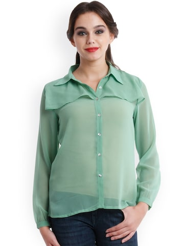 Nun Green Shirt at myntra