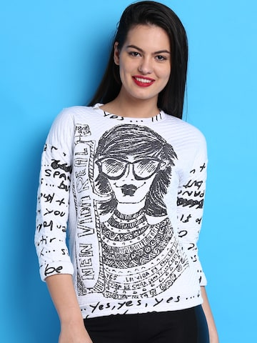 Desigual White Sweatshirt at myntra